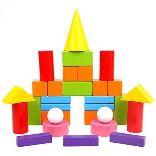 jfhrfged Lernspielzeug für Kinder Grundschule Mathematik Lehrmittel 3D geometrisches Modell Quadrat zylindrischen konischen rechteckigen Volumen Holzpuzzlespiel Spielzeug