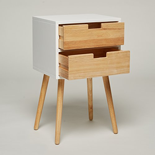 Night stand with 2 drawers white wood telephone table - Contemporary console tables with drawers ...