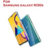 Bracevor Shockproof TPU Back Cover for Samsung Galaxy M30s - Transparent | Cushioned Edges | Flexible Clear Case