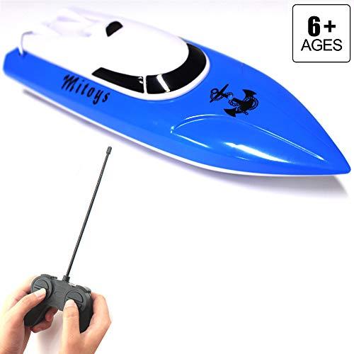 FSTgo RC Boot für Mädchen und Jungen Elektrische Geburtstagsgeschenk für Kinder 4CH Funkgesteuerte Boote / Schiffe Pool & Outdoor Blue