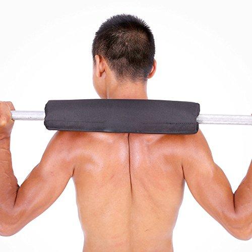JWBOSS Schwarz Shoulder Protector Barbell Pad Squat Bar Schutz Sport Übung Gewichtheben Nylon Schwamm Schwarz