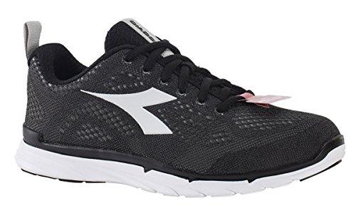 Diadora chaussure Sneaker Running Jogging Homme nj-303Trama Black/Superwhite Chaussures Noir
