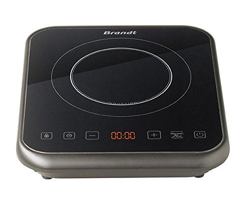 BRANDT - Plaque à induction portable - Rapide avec 10 niveaux de puissance jusqu'à 2000 W - Sécurité maximale avec verrouillage des commandes - Arrêt automatique anti-surchauffe - Noire