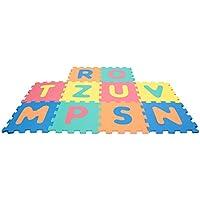 Mamatoy Puzzle Mamababy Alfombra ABC, las letras del alfabeto en esteras de 32x32 cm, 10 piezas MMA14000