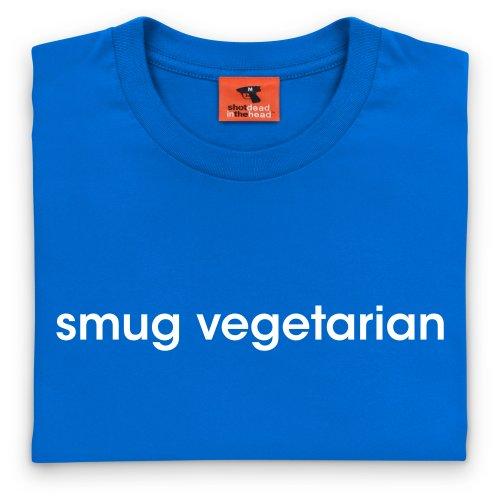 Smug Vegetarian T-Shirt, Herren Royalblau