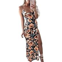 Vestido de mujer, Dragon868 Moda mujer floral impresa backless Split partido bodycon vestido largo