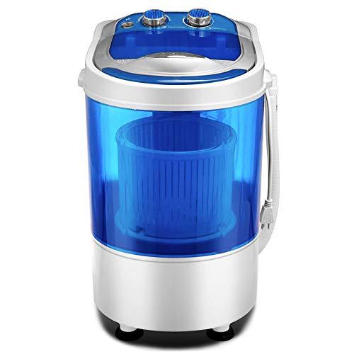 SUNCOO Tragbare Waschmaschine, Mini-Waschmaschine für Single Waschmaschine mit Trockner und Schleuder Campingwaschmaschine billig Waschmaschine:3,8 kg, Schleudergang;3 kg blau