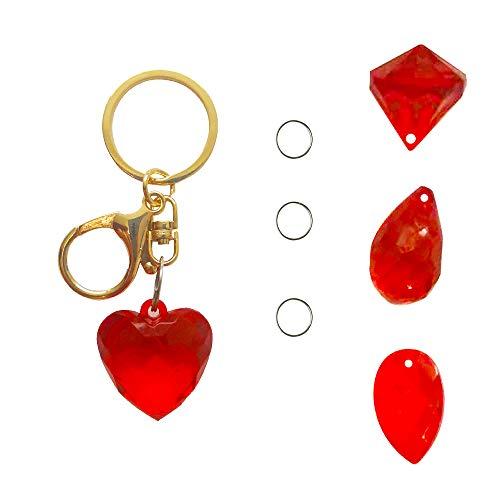 ür Schmuckherstellung Kinder Erwachsene Kinder Handwerk DIY Halskette Armreifr Crafting Beads Kit Box mit Zubehör (Red) ()
