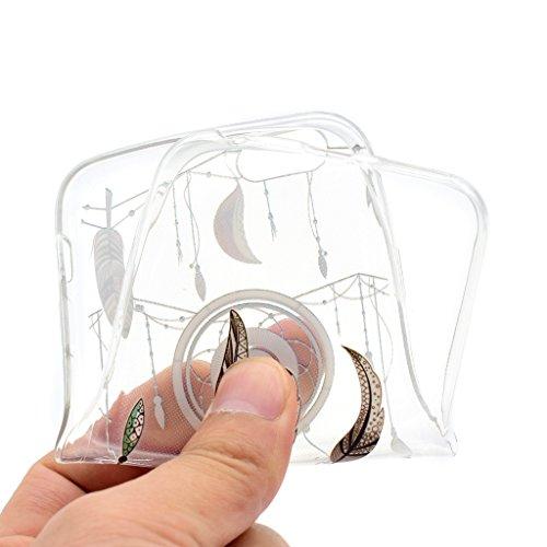 """Coque iPhone 6 Plus / 6S Plus , IJIA Ultra-mince Transparent Orange Beau Fleurs Littéraires TPU Doux Silicone Bumper Case Cover Shell Housse Etui pour Apple iPhone 6 Plus / 6S Plus 5.5"""" XX37"""