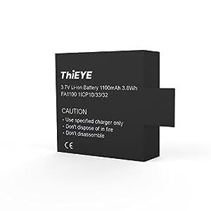 Original Rechargeable Spare Battery 1100mAH 3.7 V Li-ion For ThiEYE T5e / E7 / T5 Edge Action Camera