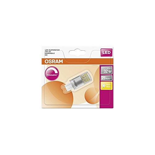 Osram LED-Lampe, Sockel G9, Dimmbar, Warm White (2700 K), ersetzt Glühlampen mit 32 W, 3,50 W, Klar, LED Superstar PIN G9 Dim