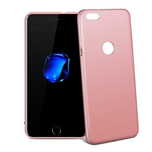 Coque iPhone 7 Plus, Riffue® Housse Etui PC Dur Plastique [Ultra Slim], [Ultra Léger] Robuste Anti-Choc, Anti-dérapante Couverture Arrière Protection Case Cover pour Apple iPhone 7 Plus ( 5,5 Pouces ) Rose