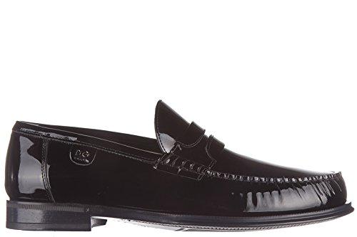 Dolce&Gabbana men's leather loafers moccasins black