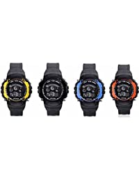 Iconic Digital Seven Light Combo Wrist Watch For Boy's & Kid's (Pack Of 4)