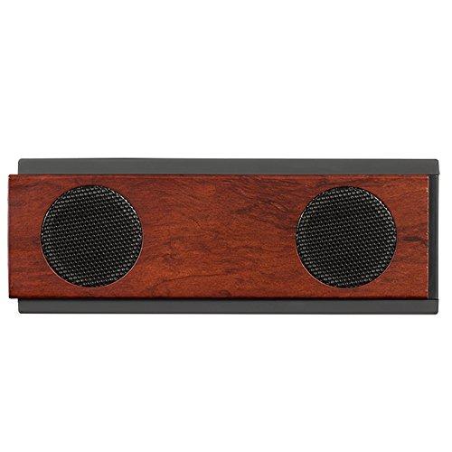 Holz- Bluetooth Lautsprecher Wireless Mini tragbare doppelte Trompete kleine Sound Subwoofer