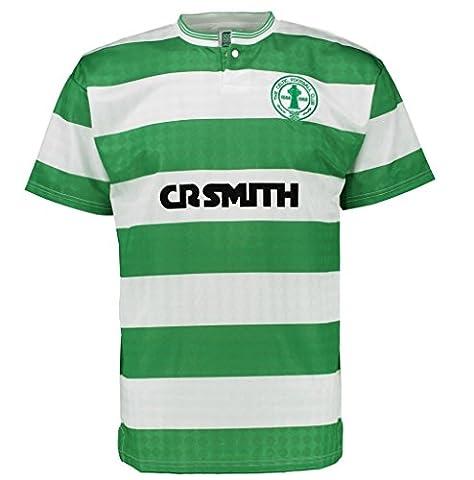 Celtic FC officiel - T-shirt thème football - homme - rétro/centenaire du club 1988 - domicile - Vert - Medium