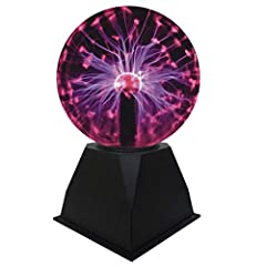 Idea Regalo - Luce a Sfera al Plasma Sensitive Ion Sphere Lamp Touching Sfera di cristallo magica 5 in per luci notturne KTV Novelty Night