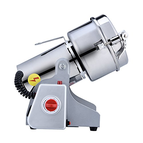 Electric Grinder Mill Swing Type Stainless Steel Grain Grinder Cereal Mill Flour Powder Machine Herb Pulverizer Superfine Powder Machine 220V 600g