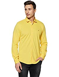 Allen Solly Men's Solid Slim Fit Casual Shirt