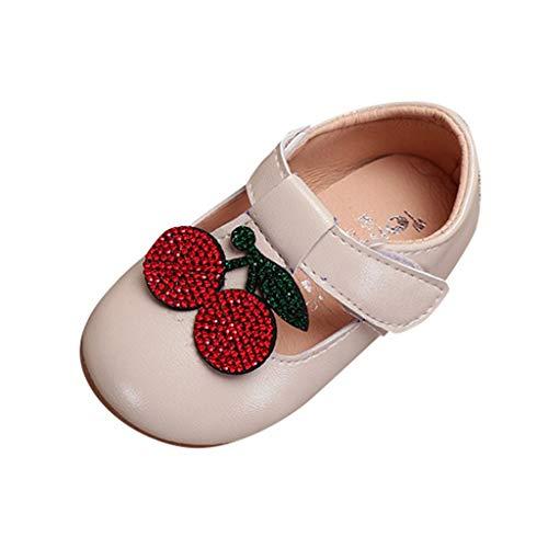 Baby Schuhe mädchen Bowknot-lederner Schuh-Turnschuh Anti-Rutsch weiches Solekleinkind für 0-18...