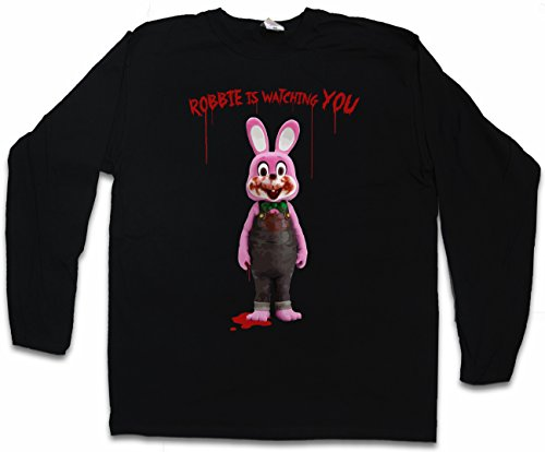 Camiseta manga larga Robbie the evil rabbit (Hombre) (S a 5XL)