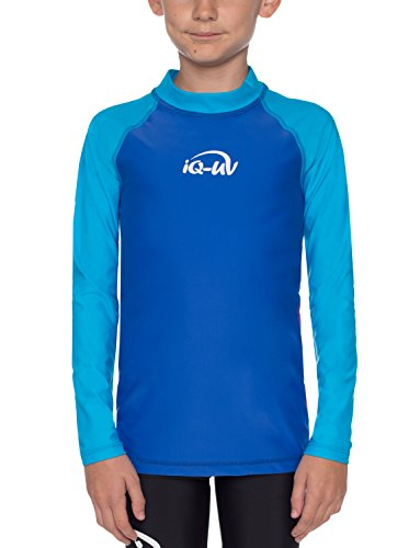 Land-kinder-kleidung (iQ-Company Kinder UV Kleidung 300 Shirt Youngster Wave Long Sleeve, Mehrfarbig (hawaii-Blue), Gr. 128/134)