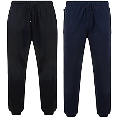 Men's Joggers Fleece Tracksuit Bottom Gym Wear Sweatpants For Men Basic Jog Pants