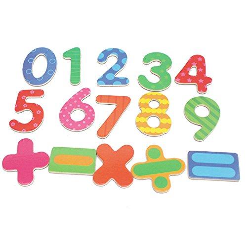 Hemore Pädagogische Spielzeug Mathematik Spielzeug Nummer Kühlschrank Aufkleber Magnet Aufkleber 15pcs
