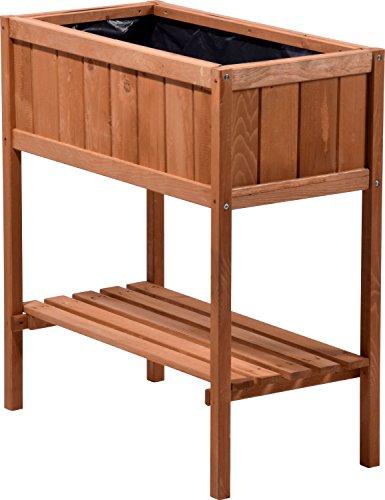 dobar hochbeet aus holz mit ablageboden fr hbeet bausatz f r gem se kr uter im garten und. Black Bedroom Furniture Sets. Home Design Ideas