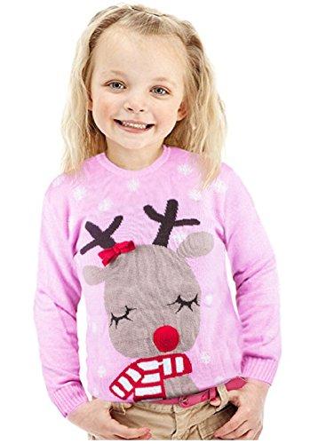 prezzo competitivo 0b8c4 22db5 Maglione natalizio con renna, a forma di rosa, per bambini ...