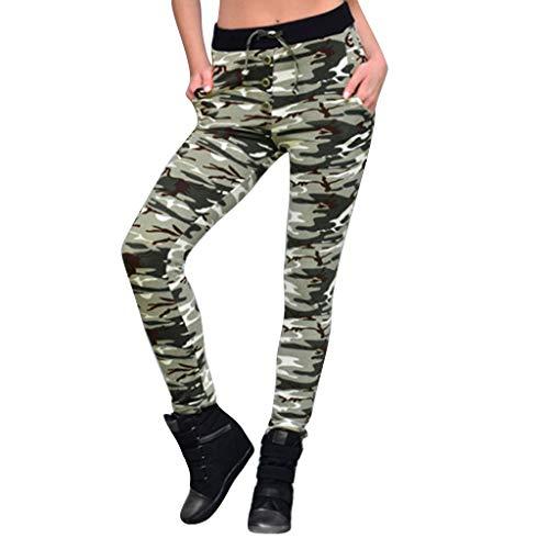 LSAltd Frauen Mode Camouflage Digitaldruck Laufen Sport Fitness Yoga Hosen Beiläufige Dünne Hosen