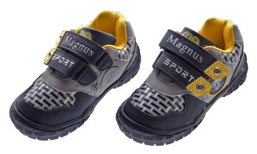 Sport Schuhe Kinder Jungen Sneakers Blau Grau Schwarz Halb Schuhe Klettverschluss Turnschuhe Blau Grau