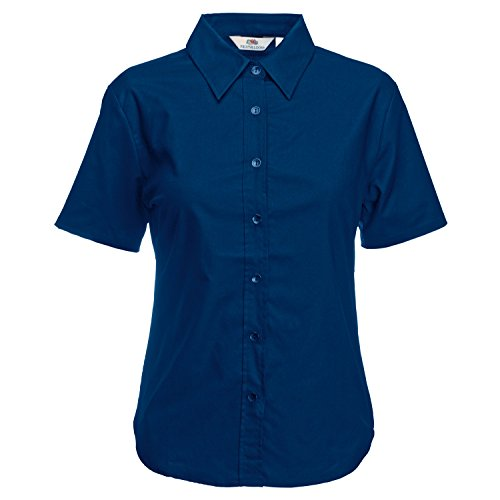 Fruite of the Loom Oxford Chemisier pour femme Bleu - Bleu