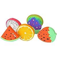 oyfel goma frutas chupete sandías Gola uvas Kiwi para Ecole Ecolier niño Niña cumpleaños 4pcs Color aleatorio