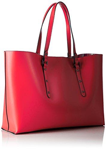 Armani Jeans 9221717p757, Borsa Donna, 10x26x38 cm Rosso (GERANIO 08873)