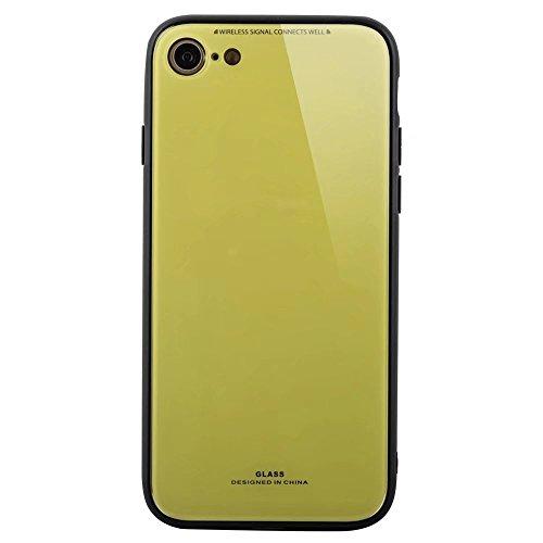 Brown Rosa Zubehör Und Partei (iPhone 7 Plus hülle Silikon rot Glas zurück handyhulle DECHYI für iPhone 7/8 Plus-)