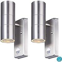 LED Außen Wand Beleuchtung Bluetooth Terrassen Lautsprecher Edelstahl Lampe