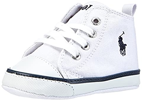 Polo Ralph Lauren Boys' Harbour Hi layette Booties white white white Size: 2