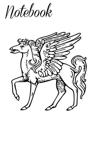 Notebook: Pegasus Horse Greek Mythology Homework Book Notepad Notebook Composition and Journal Gratitude Diary Gift
