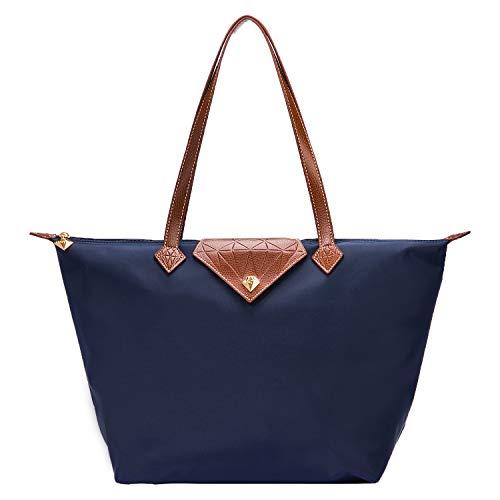 Bojly Bolso de las mujeres, bolso de hombro Bolsos para las mujeres Diamante Nylon Tote Bag Ladies Shopping...