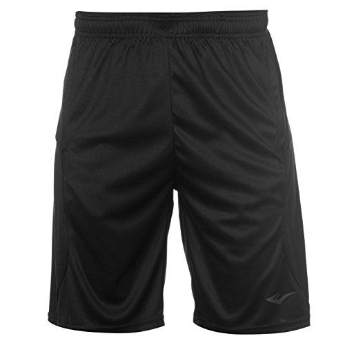 Everlast Herren Fly Training Shorts Kordelzug Taschen Schwarz Large (Activewear-sportliche Shorts)