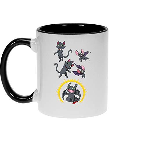 okiWoki Tazas de Desayuno Drachenzähmen Leicht Gemacht humorística con Desdentao el dragón (Parodia de Drachenzähmen Leicht Gemacht)