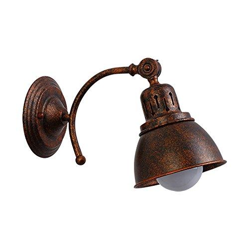 Industrial Lámpara de Pared,Vintage rústico Apliques de Pared Lámpara,Luz de pared de la vendimia con E27 para el hogar,bar,restaurantes,cafetería,cocina,la sala de estar y el dormitorio