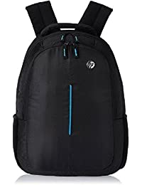 Famous Quality® HP Polyester Laptop Bag/Backpack For 15.6 Inch Laptops In Black And Blue Color For School/College...