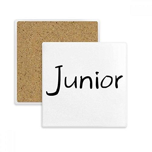 DIYthinker Schwarz Eins Wort Junior-Platz Coaster-Schalen-Becher-Halter Absorbent Stein für Getränke 2ST Geschenk Mehrfarbig (Becher Junior)