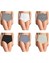 Pepperika Women's High Waist 100% Cotton Elastane Stretchable Hipster Brief Underwear Full Coverage Maternity Pregnancy C-Section Recovery Hygiene After Delivery Panties
