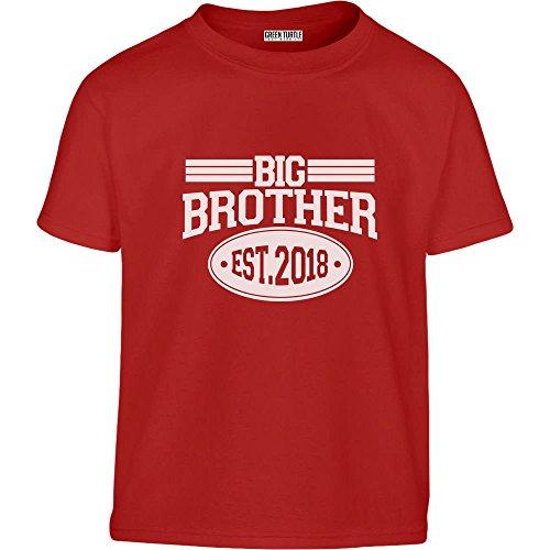 Big Brother 2018 - Geschenke für Bruder Kleinkind Kinder T-Shirt - Gr. 86-128 104 (3-4J) Rot (Bruder-t-shirts Big-brother-kleiner)