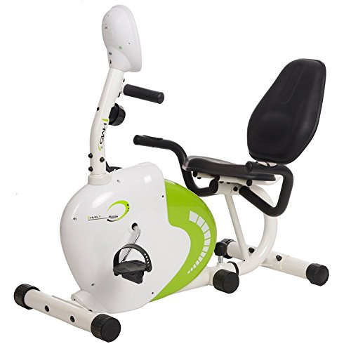 HMS Recumbent Magnetic Bike R9259, white/green, One size, 17-1-056