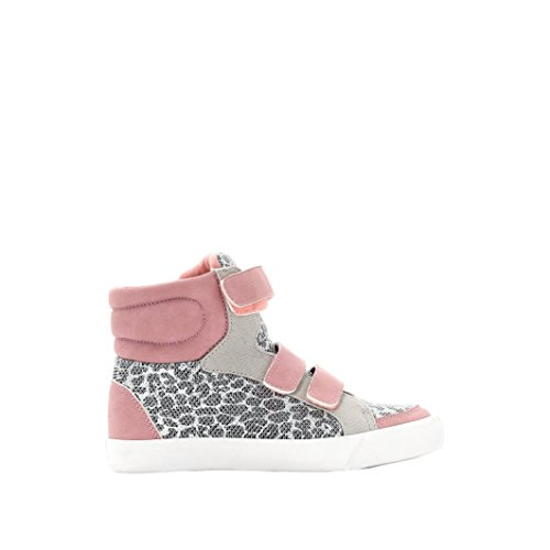 Abcd'r Mdchen Hohe Sneakers Fur Madchen, Leoprintbr rosa + Leopardenmuster
