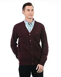 Gant Mens Wool Cardigan (8907036683394_GMWEF0011A_XX-Large_Amarone)